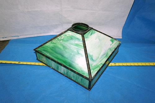 Arts And Crafts Green Slag Glass Lamp Shade
