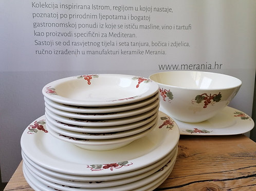 Set tanjura grozd / dinnerset grapes