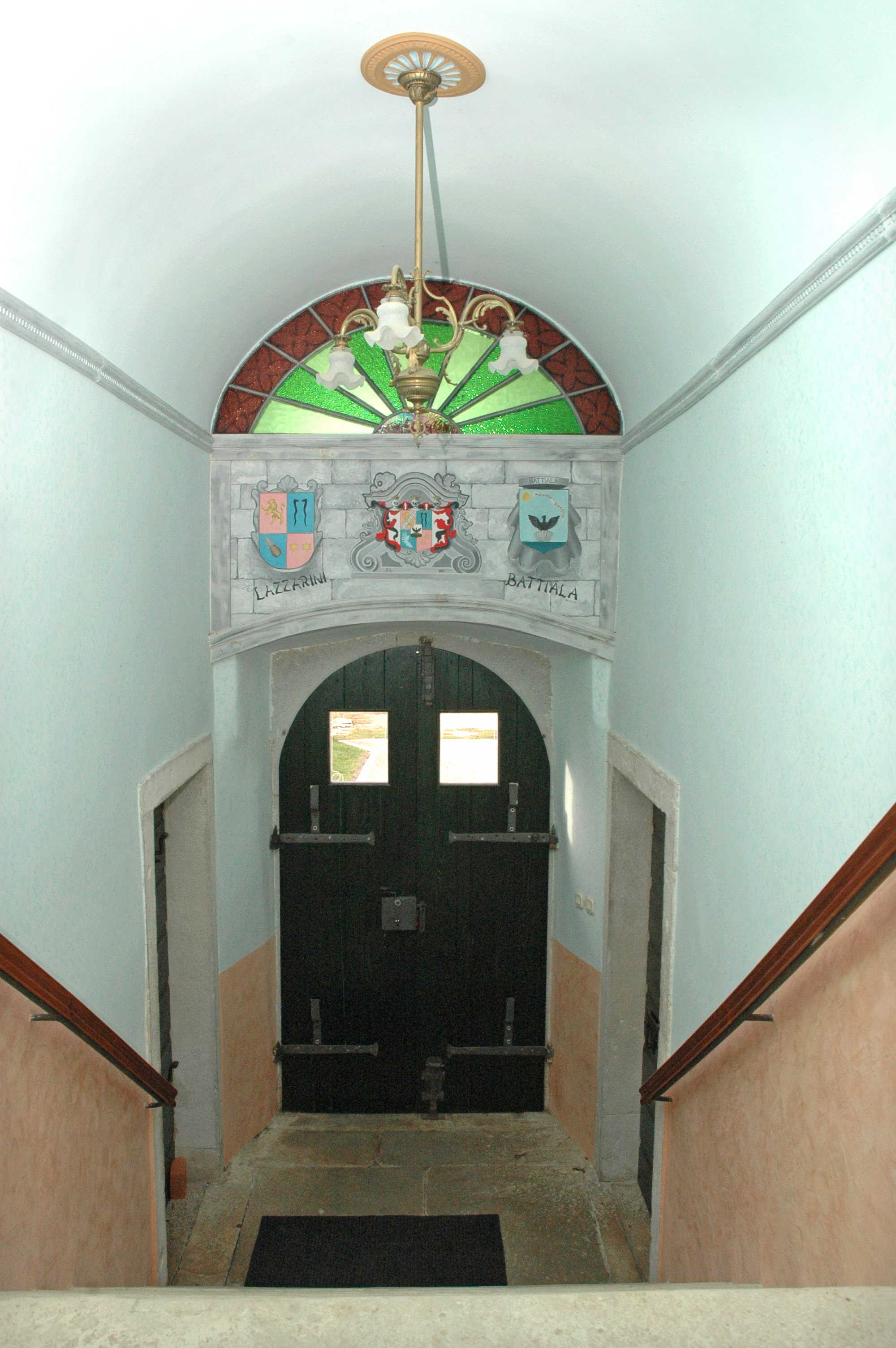 Stairway going to first floor