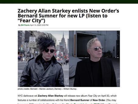 BROOKLYN VEGAN - Zachery Allan Starkey and New Order's Bernard Sumner Collaborate on 'FEAR CITY'
