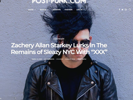 """""""Starkey has created a dynamic club track for this new 21st century dystopia"""" PostPunk reviews XXX"""