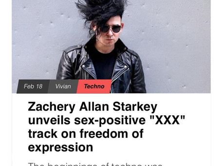 """""""XXX"""" symphonically sweeps the sonic landscape with pure hedonistic ecstasy"""" - EARMILK reviews XXX"""