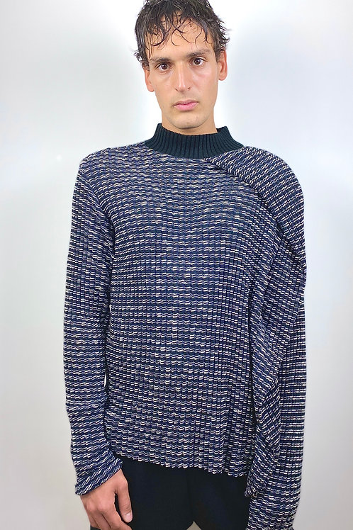 KNITTED COTTON MIX JUMPER