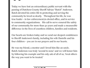 Butch Anderson, Dutchess County sheriff of more than 20 years, dies