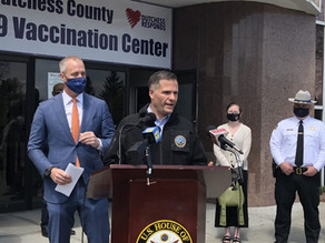 Maloney, Molinaro visit Dutchess vaccination site to encourage vaccinations