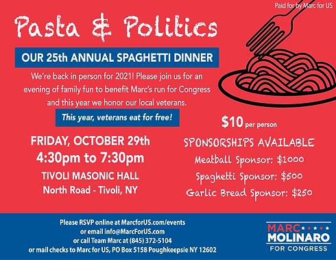 Pasta and Politics 2021