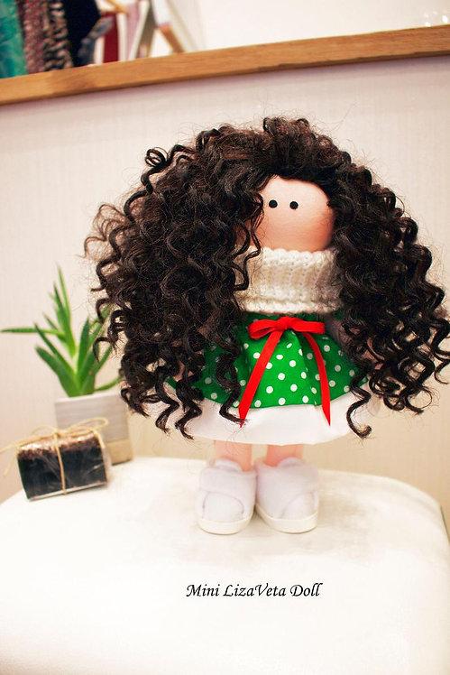 Mini LizaVeta Doll in Green Dress