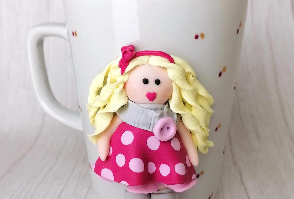 Doll Mug - Pink