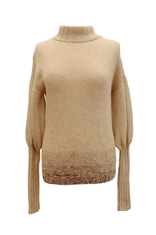 Beige Hand-Knitted Sweater