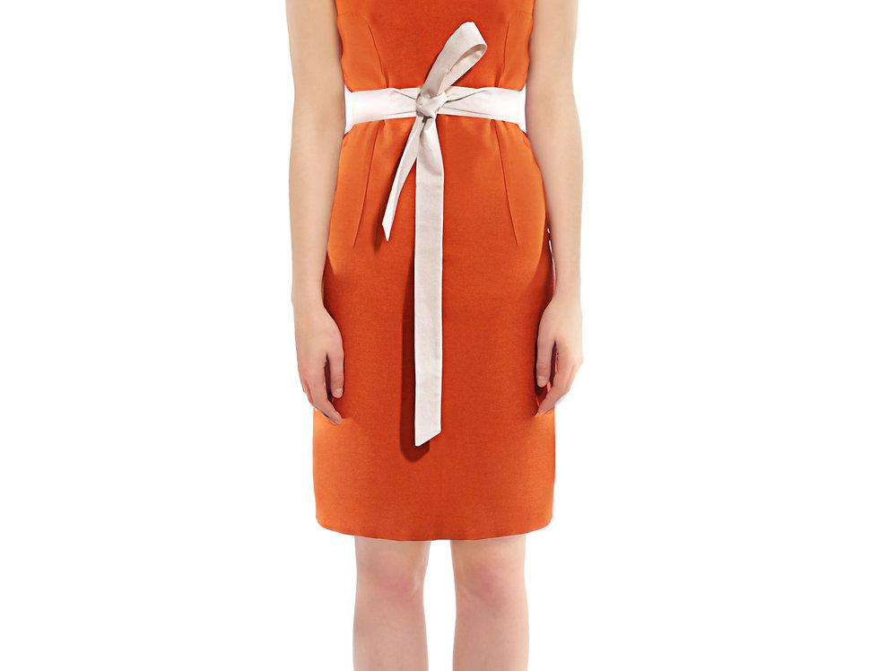 Jalapeno Silk-Wool Pencil Dress