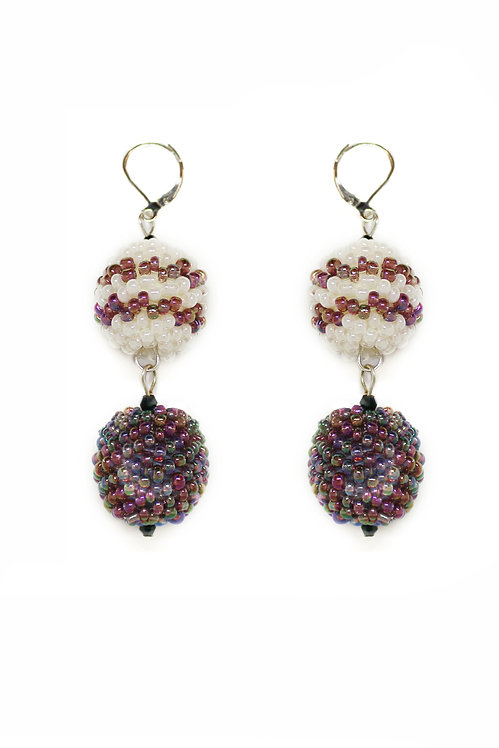 Two Ball Drop Earrings