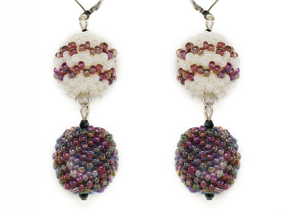 Two Ball Drop Earrings