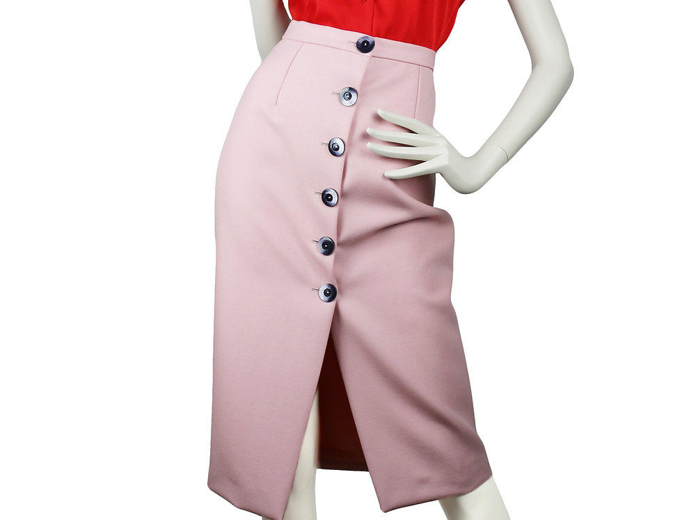 Merino Wool Pink Skirt