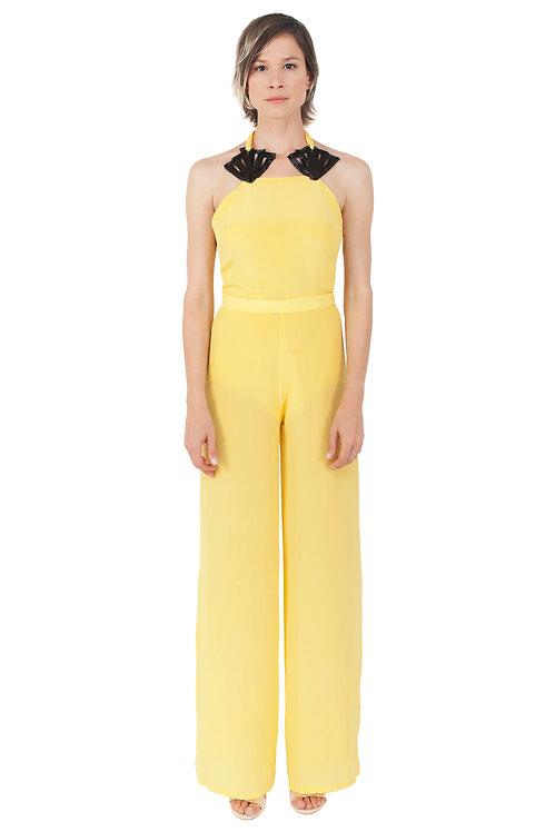 Lemoncello Silk Jumpsuit
