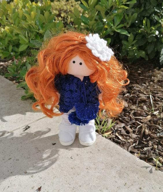 Dolliza in Blue Cardigan
