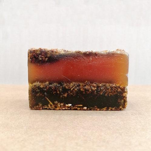 Organic Vegan Soap Bar Exfoliating -  Ylang Ylang 140g