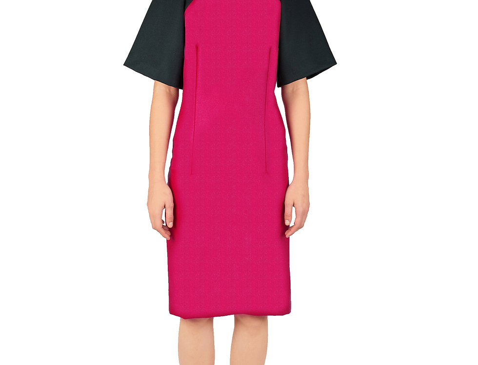 Merino Wool Dress With Wide Sleeves
