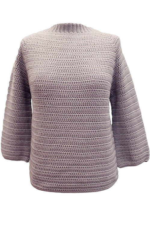 Silver Hand-Knitted Sweater