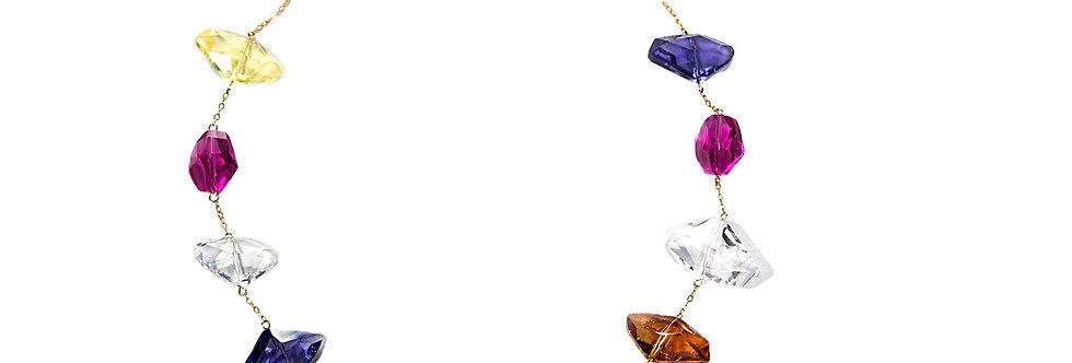 Multicolour Swarovski Crystals Necklace