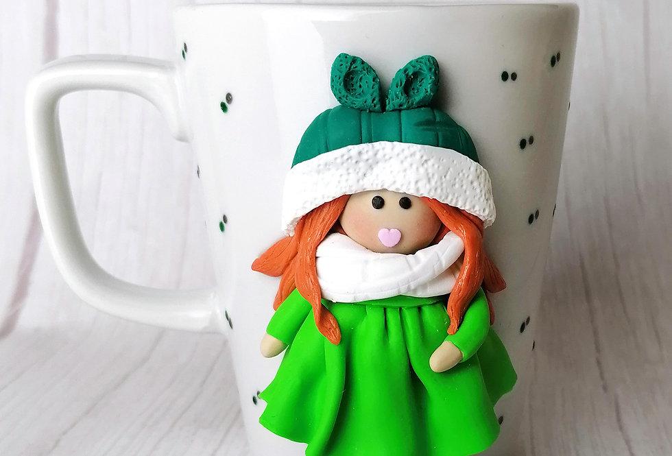 Doll Mug - Green