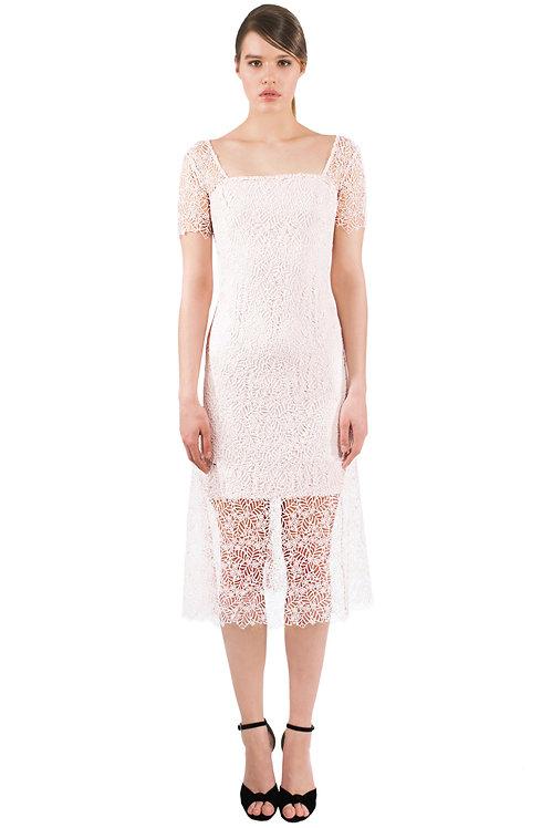Midi Guipure Lace Dress