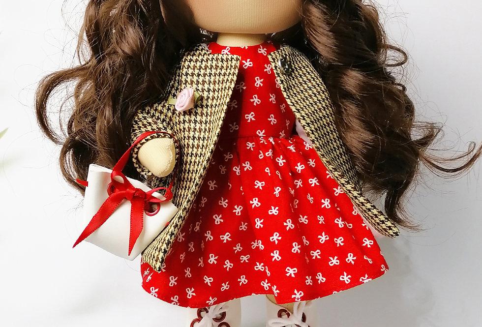 Dolliza in Tartan Coat