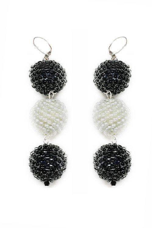 Three Ball Drop Earrings