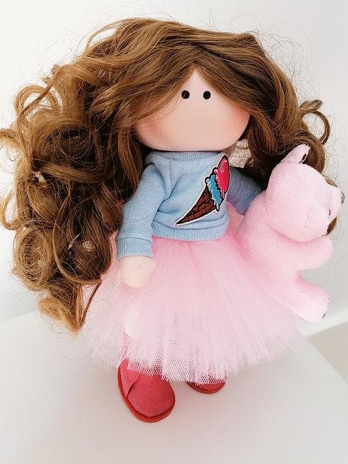 Mini LizaVeta Doll in Pink Tulle Skirt