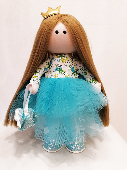 Mini LizaVeta Doll in Blue Tulle Dress