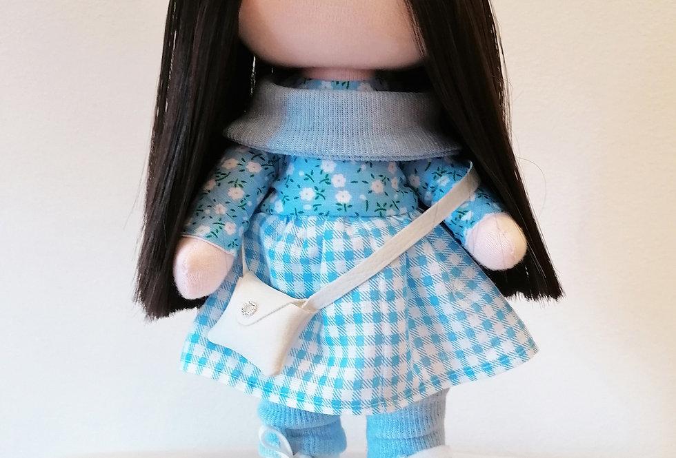 Dolliza in Blue Check Dress