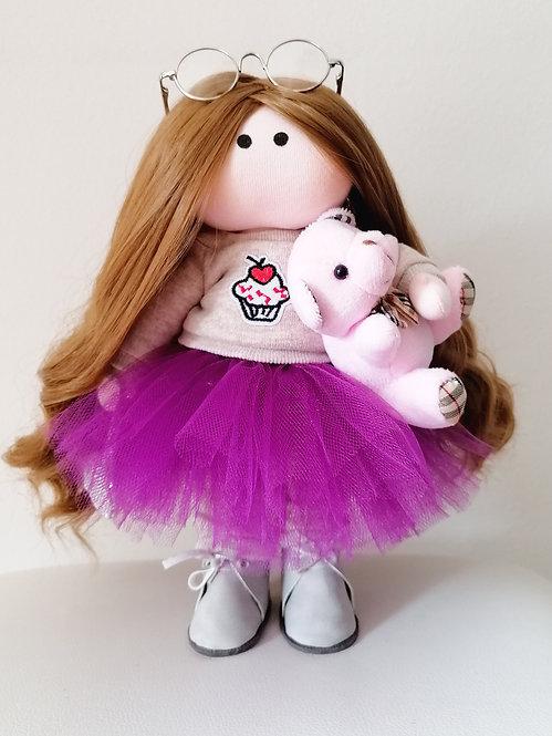 Mini LizaVeta Doll in Grey Jumper