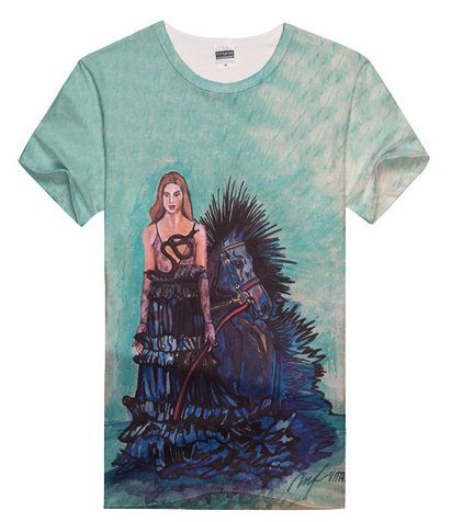 Girl With Horse Art T-Shirt