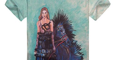 Girl With Horse Art T-Shirt