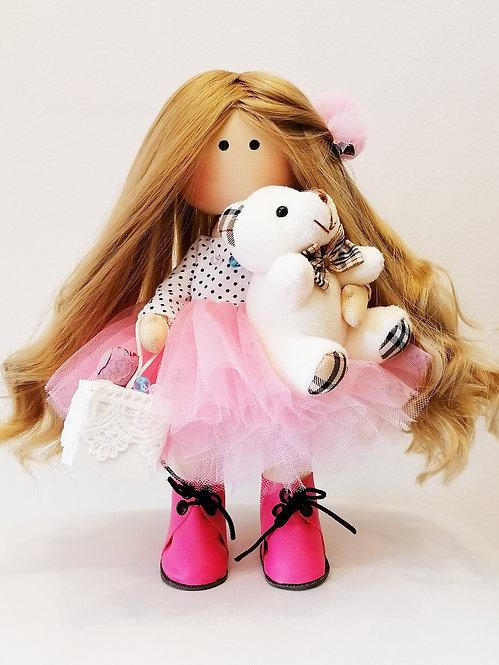 Mini LizaVeta Doll in Polka Dot Tulle Dress