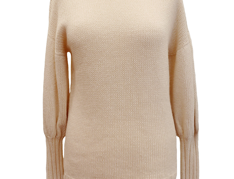 Off-White Hand-Knitted Sweater