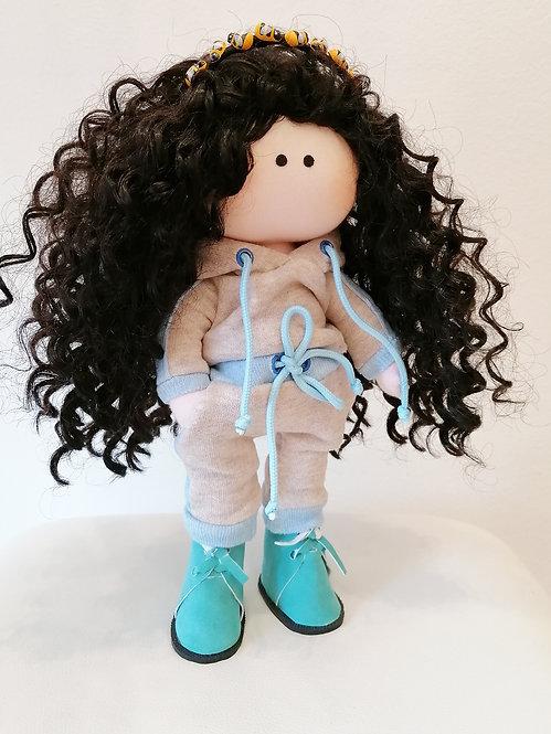 Mini LizaVeta Doll in Grey Trucksuit