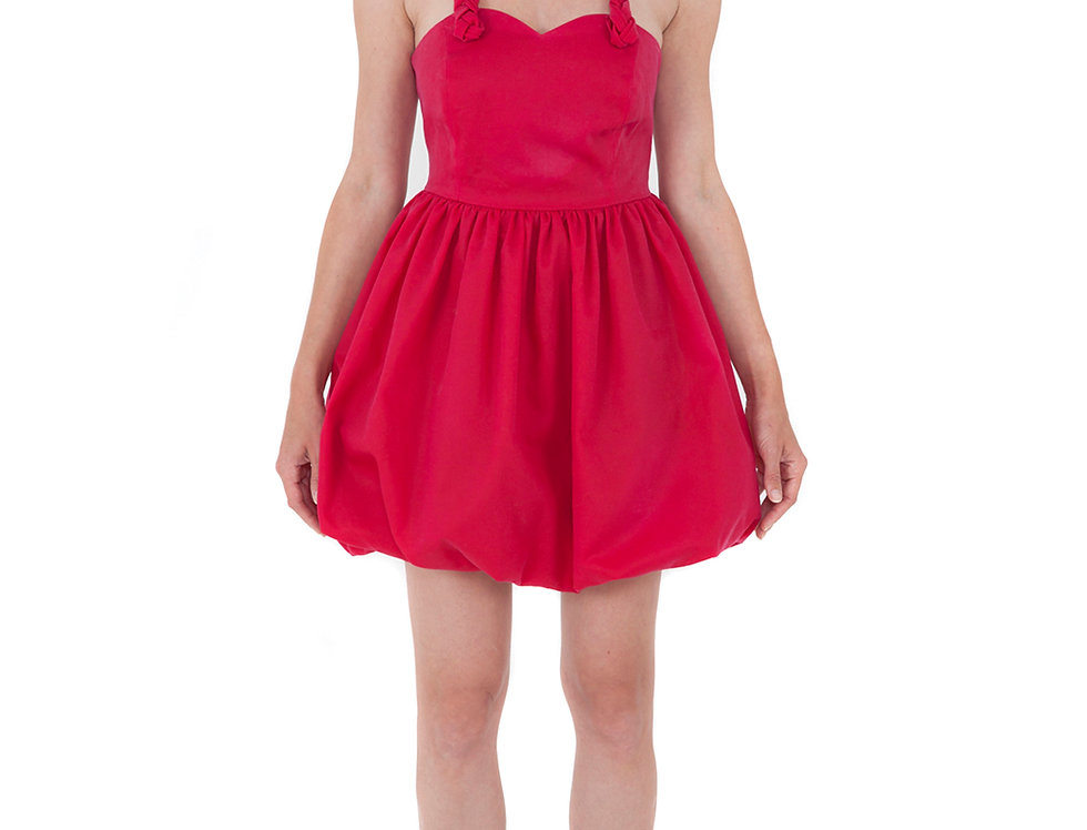 Red Bubble Braided Dress