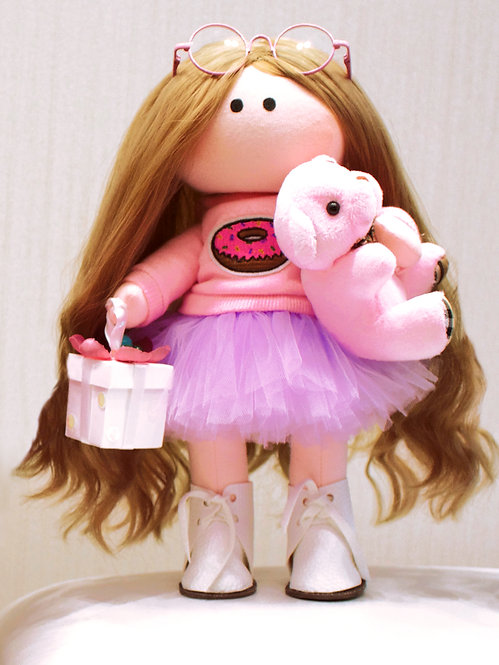 Mini LizaVeta Doll in Pink Outfit