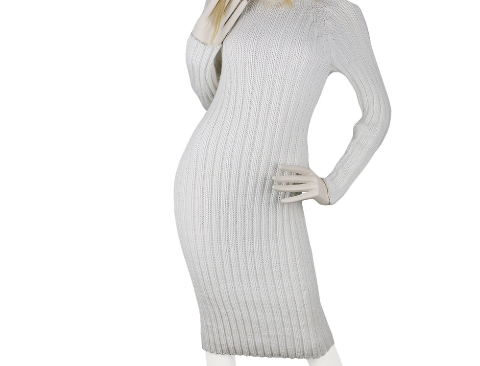 Off-White Hand-Knitted Dress