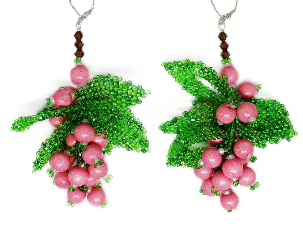 Green Berry Earrings