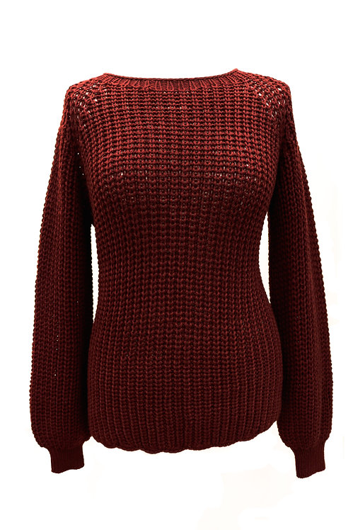 Bordo Hand-Knitted Sweater