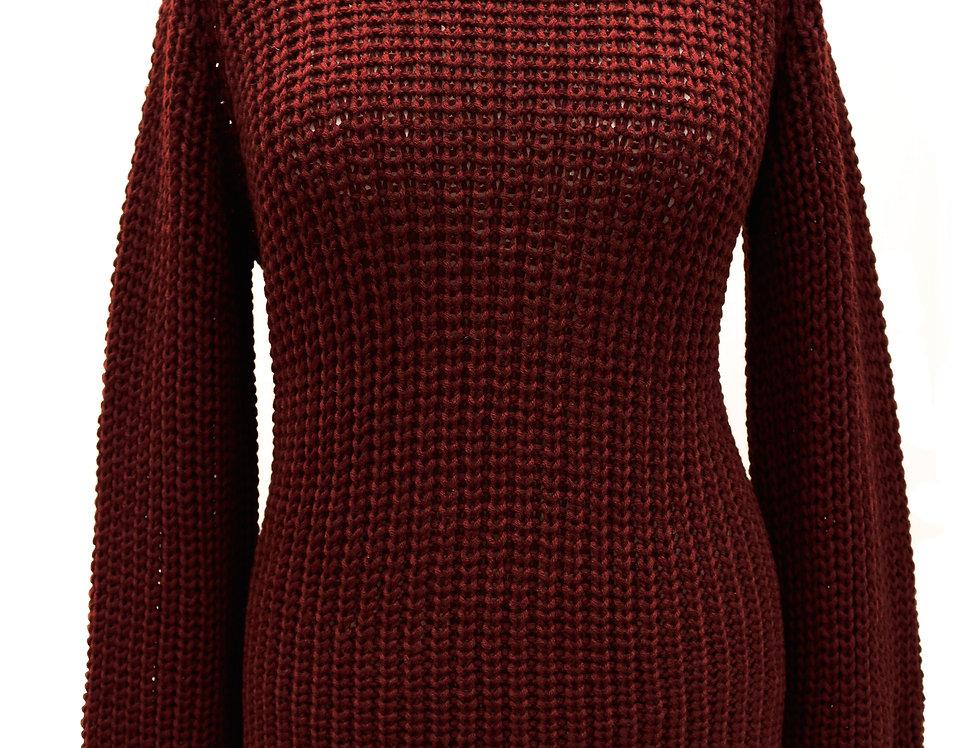 Bordo Hand-Knitted Jumper