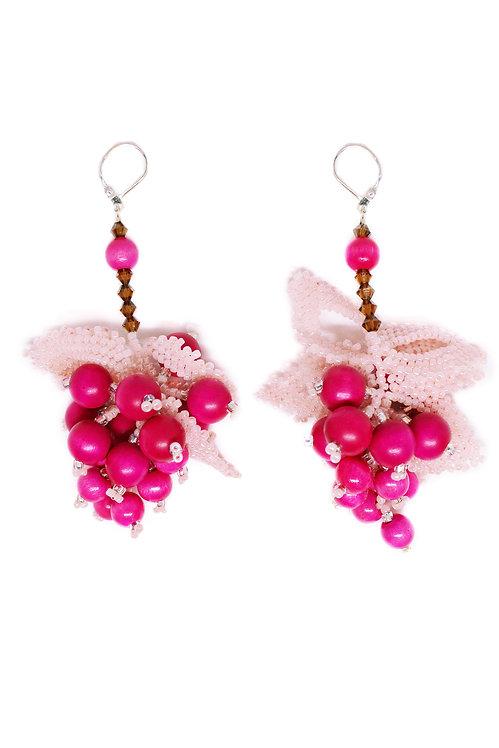 Pink Berry Earrings