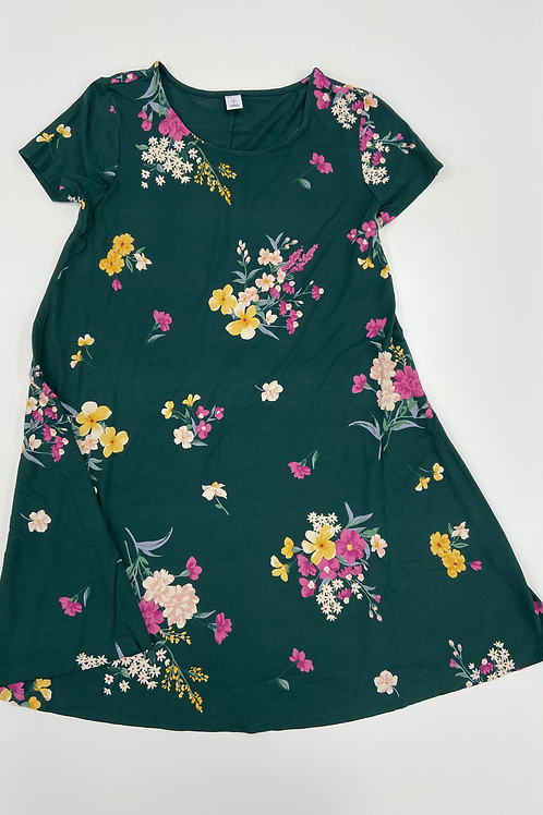 Floral Short Sleeve Dress