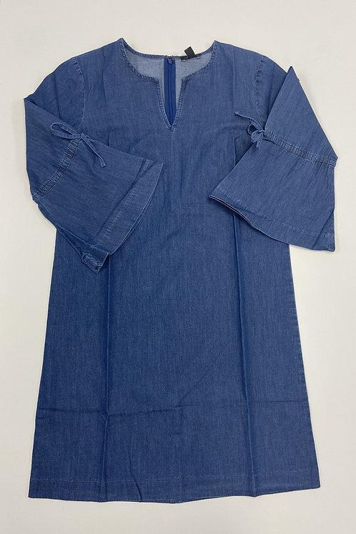 Denim Flared Sleeve Dress