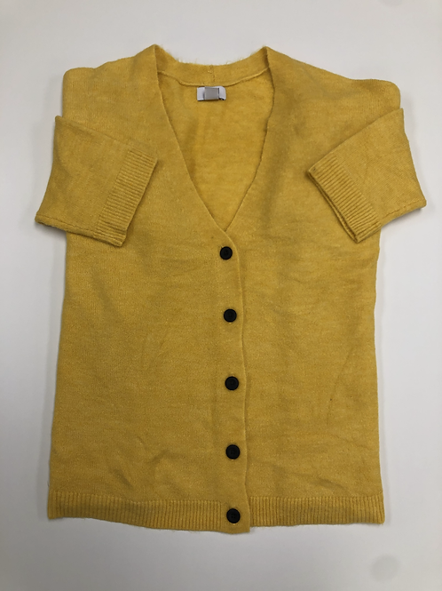 Yellow Button Up Cardigan