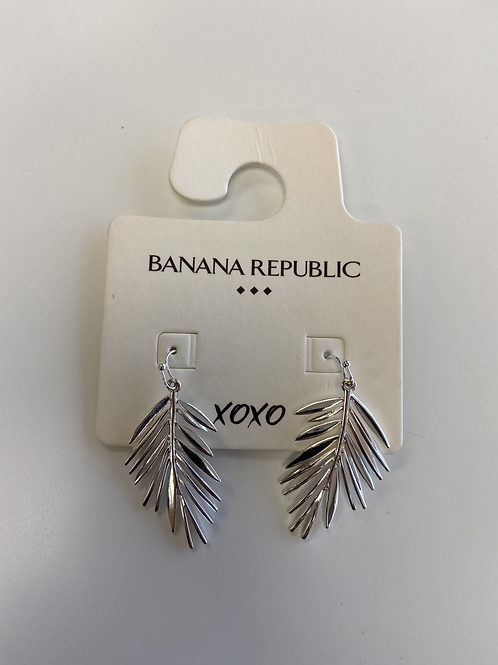 Earrings - Silver Leaf