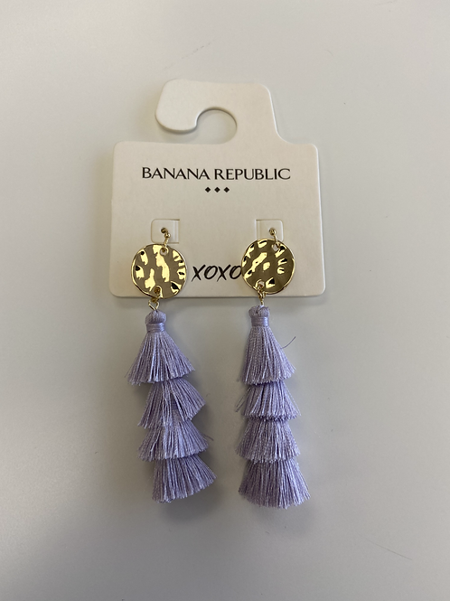 Earrings - Purple Frills