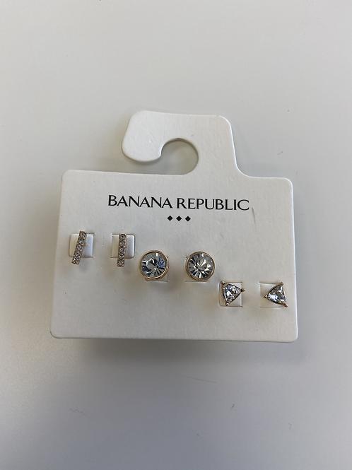 Earrings - Studs 3 Pack