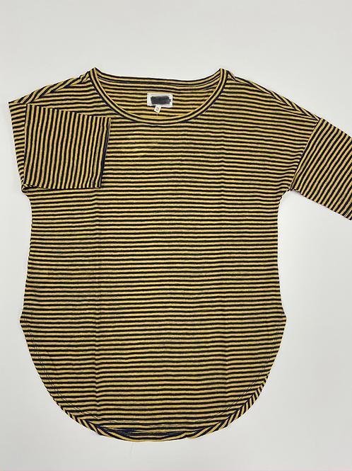 Striped Quarter Length Sleeve Tee
